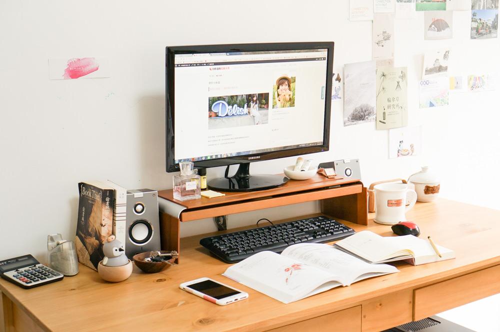 如何在家也能專心工作?其實你只需要一個高度剛好的螢幕架│Bestmade STAND 3 原木螢幕架│我的書桌大公開