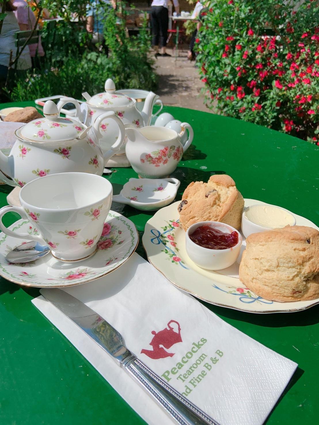 劍橋私房景點:英國最好吃司康在Ely伊利。孔雀茶屋Peacocks Tearoom