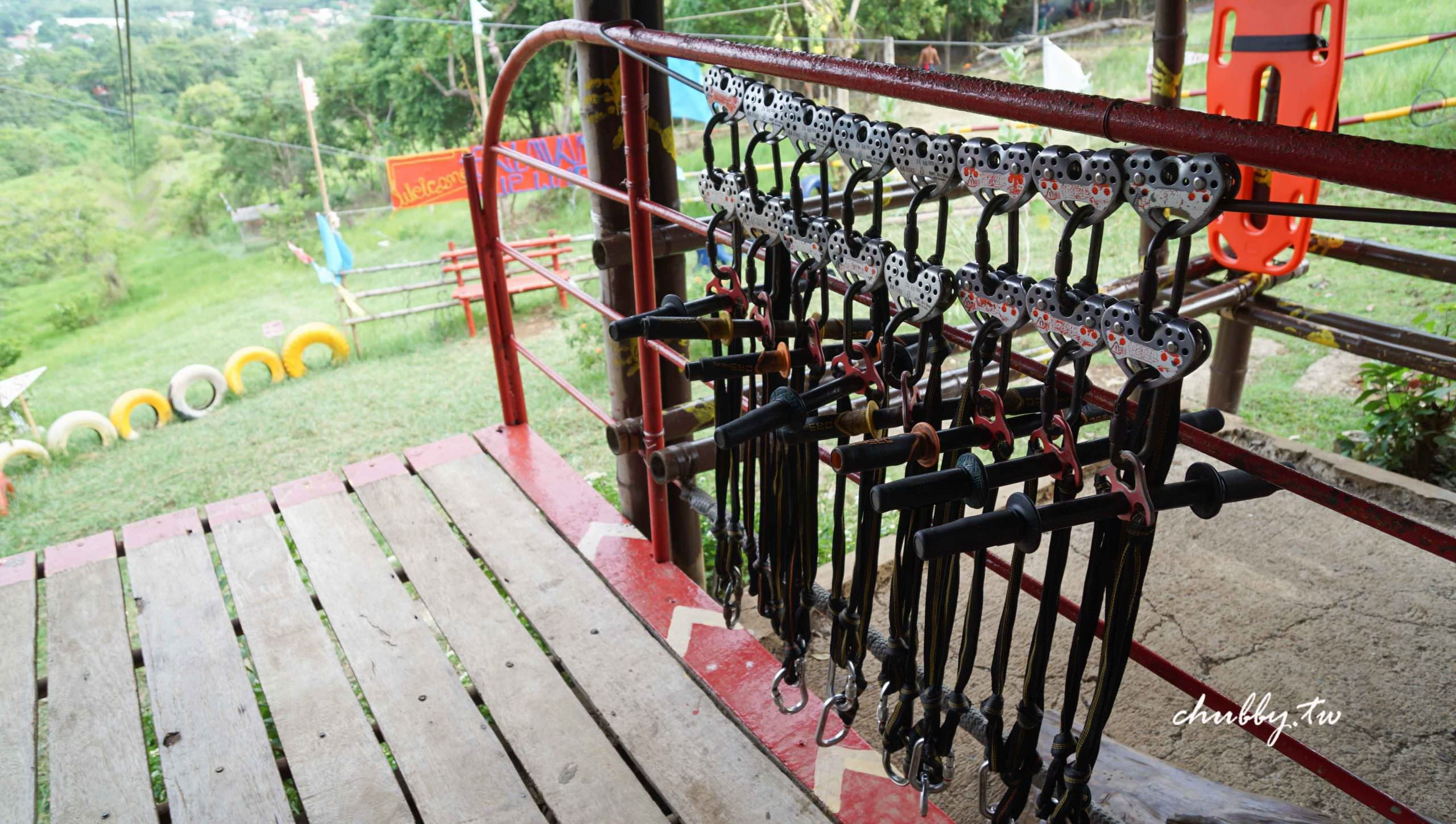 菲律賓巴拉望公主港親子行程:在蜜都拉之家Mitra's Ranch玩空中滑索Rancho Zipline!