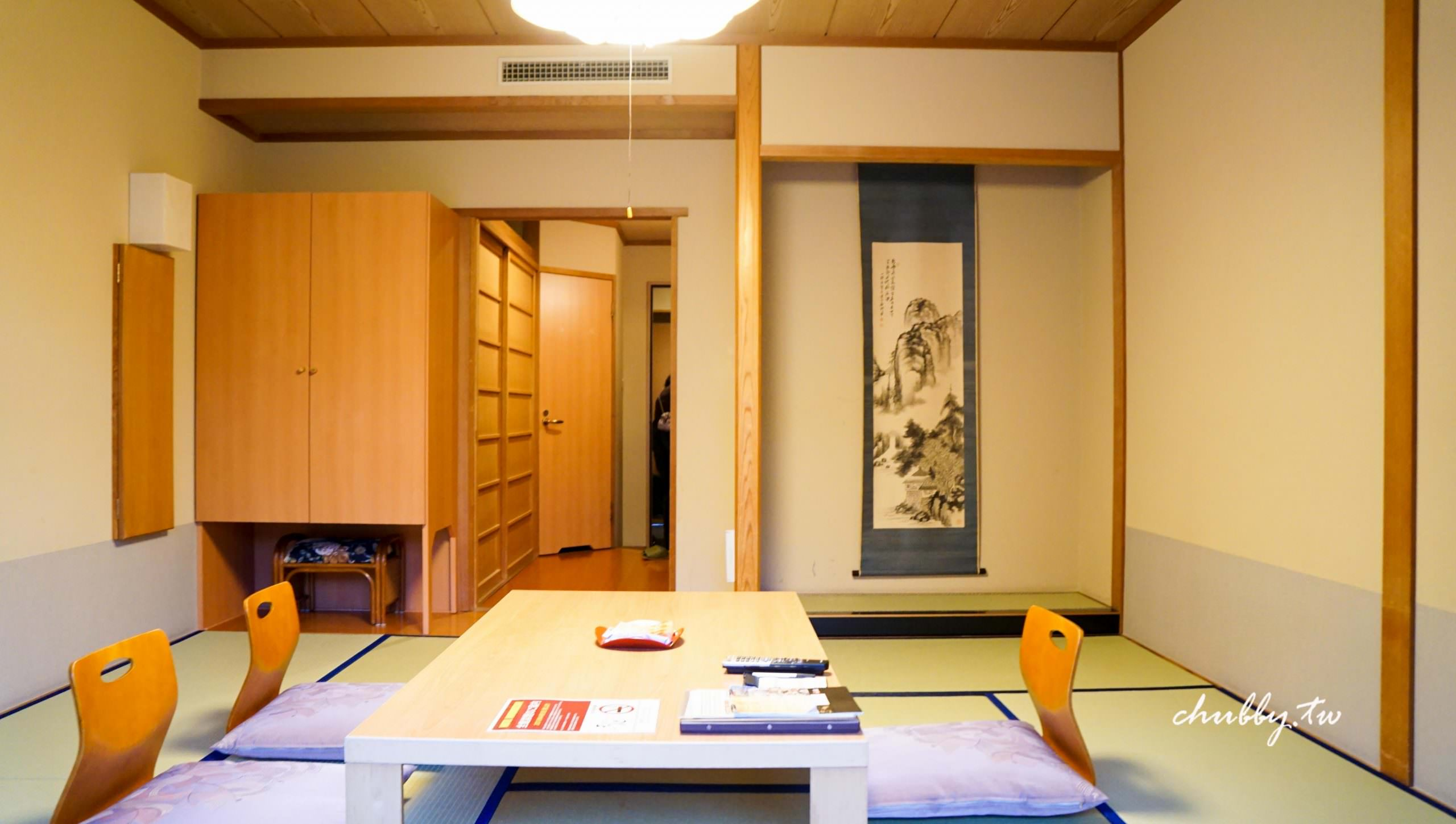 阿智村 昼神溫泉 天心大酒店。和室山景房介紹