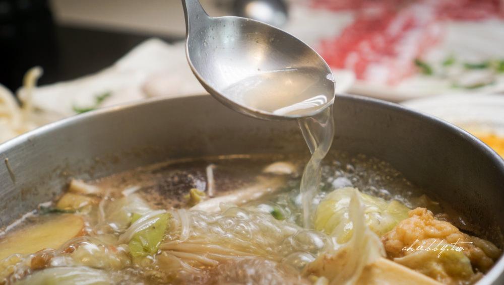 大安區火鍋推薦│原涮樂活鍋物,高水準壽喜燒鍋搭配神農黑豚,原汁原味一粒鹽都不加的神奇湯頭!