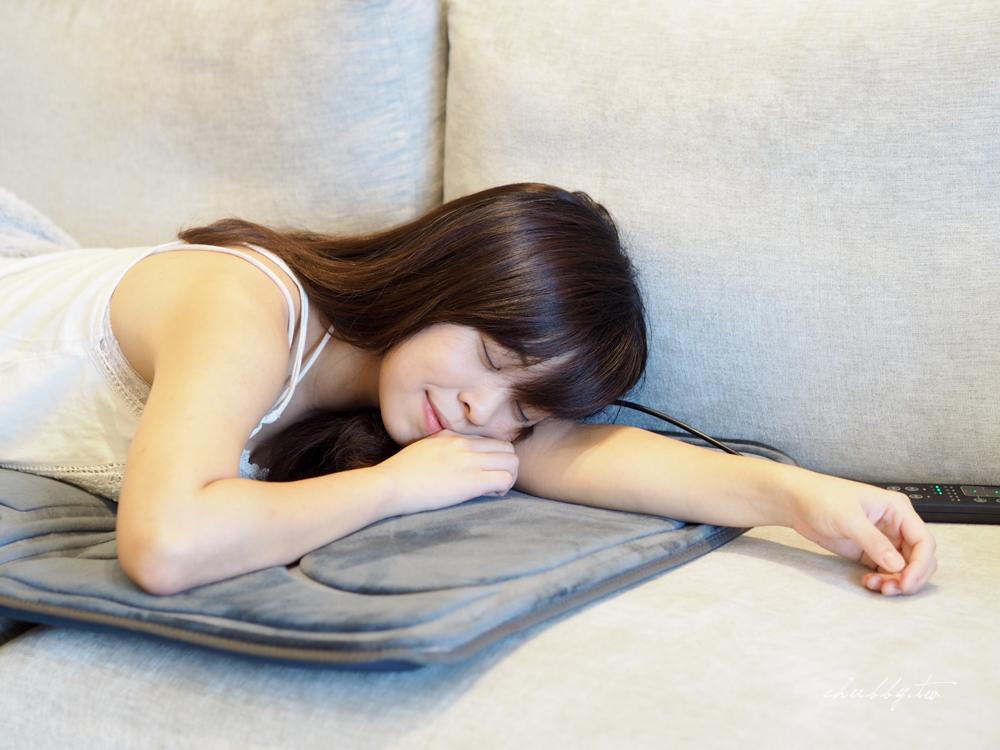 JHT震波紓壓溫熱按摩墊,利用震動讓身心沉靜:小資族的放鬆首選!