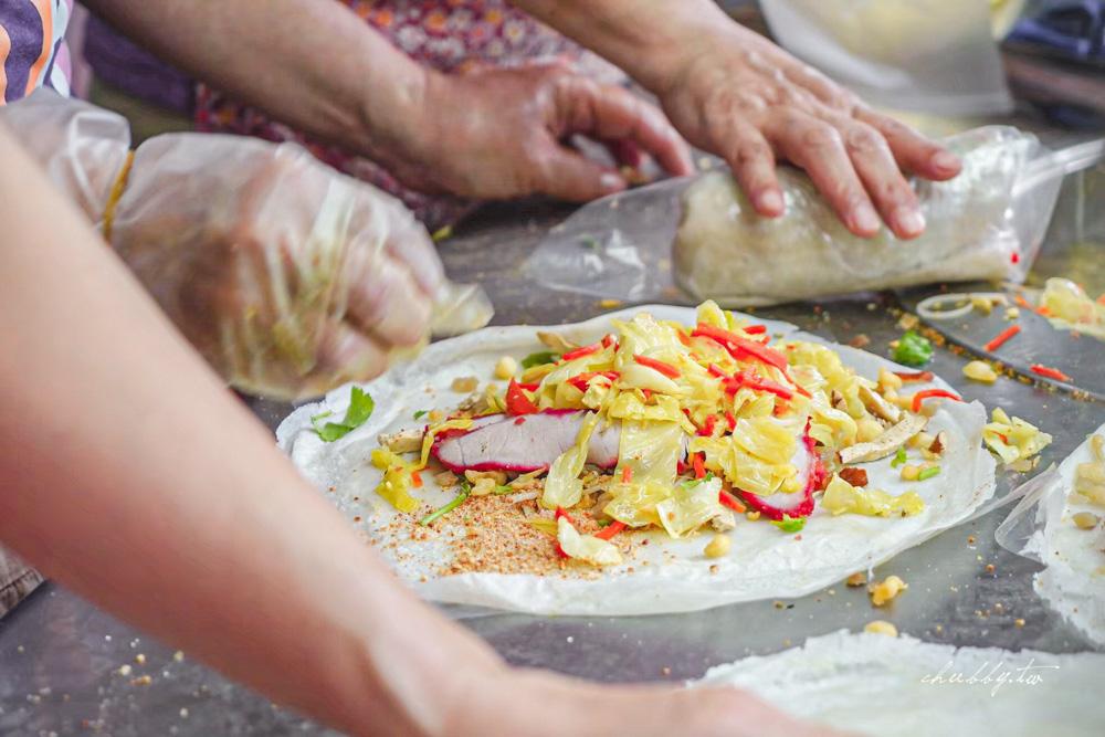 蘆洲光華潤餅捲,高麗菜爽脆、紅燒肉滿滿厚切又大片!天天排隊的蘆洲之光潤餅店!